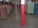 Vestil VCW-RD-RND red round column wrap 8 in