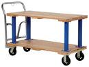 Vestil VHPT/D-2448 double deck hardwood platform cart 24x48