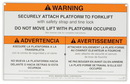 Vestil WP-WS work platform warning sign w/ hardware