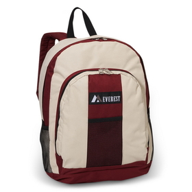 Everest BP-2072 Backpack w/ Front & Side Pockets(Images for reference)