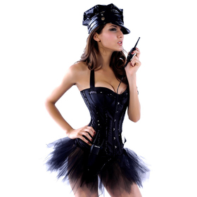 MUKA Black Halter Fashion Corset with Sequins, Gift Idea