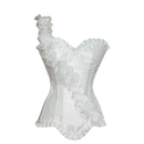 MUKA White Fashion Corset with Floral Design, Gift Idea