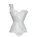 MUKA White Fashion Corset with Floral Design, Gift Idea