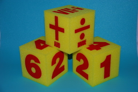 "Everrich EVAJ-0010 5"" Math Foam Dice Set of 3, Price/set"