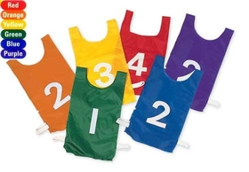 "Everrich EVC-0080 Pinnies Set - 20"" L * 11"" W - numbered 1~12, Price/set"