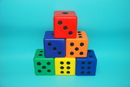Everrich EVC-0174 Foam Dice Set - set of 6 colors, 3