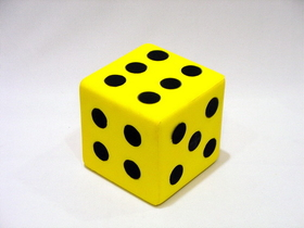 "Everrich EVM-0015 Foam Dice W/dots-- 3 1/4"", Price/piece"