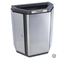 Ex-Cell Kaiser ECH-HHX A/T TR SS/BL Echelon Half-Hex Collection Indoor Receptacle