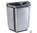 Ex-Cell Kaiser ECH-HHX COMBO SS/BL Echelon Half-Hex Collection Indoor Receptacle