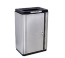Ex-Cell Kaiser ECH-SL TR SS/BL Echelon Slim Collection Indoor Receptacle