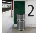Ex-Cell Kaiser VCT-33 PERF SS Venue Collection Waste Receptacle