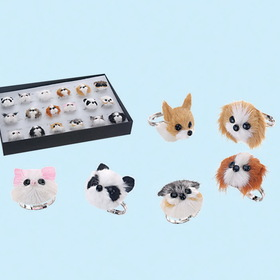 Furry Animal Kingdom AR021 Animal Ring-36pcs assort