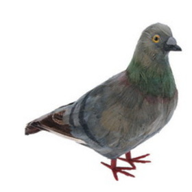 Furry Animal Kingdom CK109 PIGEON-Grey standing