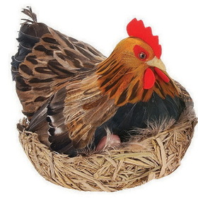 Furry Animal Kingdom CK23 CHICKEN-Hen & eggs on nest