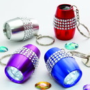 Fashioncraft 12416 Bling LED flashlight keychain, 24/Pack