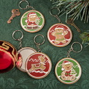 FashionCraft 12630 Gingerbread themed holiday pocket mirror with key chain, 12/Pack