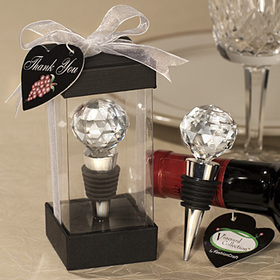 FashionCraft 1904 Vineyard Collection Crystal Ball Design Wine Stoppers