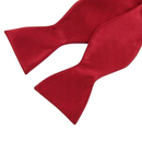 TopTie Classic Solid Color Deep Red Hand Self Tied Bowtie, Gift Idea