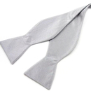 TopTie Classic Solid Color Silver Gray Hand Self Tied Bowtie, Gift Idea