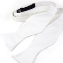 TopTie Classic Solid Color White Hand Self Tied Bowtie, Gift Idea