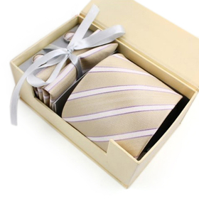 TopTie Mens Stripes Necktie Set, Tie & Handkerchief & Cufflinks, Gift Idea