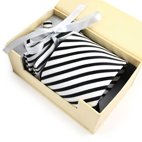 TopTie Mens Black and White Stripes Necktie Cufflinks Set, Gift Idea