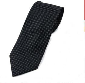 TopTie  Men's Black & White Polka Dots Designer  Necktie