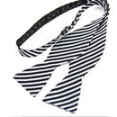 TopTie Classic Black Self Tie Stripe Bowtie with Box, Gift Idea