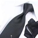 TopTie Mens Polka Dots Necktie Set, Tie & Handkerchief & Cufflinks, Gift Idea