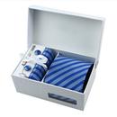 TopTie Mens Stripe Necktie Set, Tie & Handkerchief & Cufflinks, Gift Idea