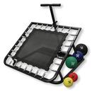 CanDo 10-3131 Adjustable Ball Rebounder - Set with Rectangular Rebounder, 1-tier Horizontal Plastic Rack, 5-balls (1 each: 2, 4, 7, 11, 15 lb)
