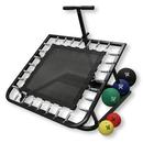 CanDo 10-3132 Adjustable Ball Rebounder - Set With Rectangular Rebounder, 5-Balls (1 Each 2,4,7,11,15 Lb.)