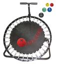 CanDo 10-3135 Adjustable Ball Rebounder - Set with Circular Rebounder, 1-tier Horizontal Plastic Rack, 5-balls (1 each: 2, 4, 7, 11, 15 lb)