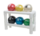 CanDo 10-3188 Cando Wate Ball - Hand-Held Size - 6-Piece Set (1 Each Tan Through Black), With 2-Tier Rack