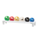 CanDo 10-3189 Cando Wate Ball - Hand-Held Size - 6-Piece Set (1 Each Tan Through Black), With 1-Tier Rack