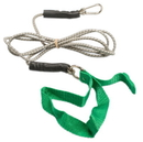 CanDo 10-5803 Cando Exercise Bungee Cord With Attachments, 7 Foot, Green - Medium