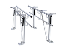 15-4090 Parallel Bars, Floor Mounted, Height And Width Adjustable, 7' L X 8
