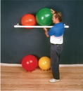 CanDo 30-1831 Inflatable Exercise Ball - Accessory - Pvc Wall Rack, 64 X 18 X 2 Inch, 1 Shelf