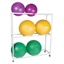 CanDo 30-1832 Inflatable Exercise Ball - Accessory - Pvc Mobile Floor Rack, 62 X 20 X 72 Inch, 3 Shelf