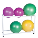 CanDo 30-1833 Inflatable Exercise Ball - Accessory - Pvc Stationary Floor Rack, 62 X 20 X 42 Inch, 2 Shelf