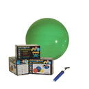CanDo 30-1846 Cando Inflatable Exercise Ball - Economy Set - Green - 26 Inch (65 Cm) Ball, Pump, Retail Box
