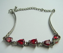 Feng Shui Import Sterling Bracelet w/ Round Clear Crystals - 1046