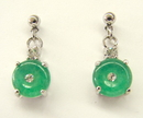 Feng Shui Import Jade Earrings - 1072