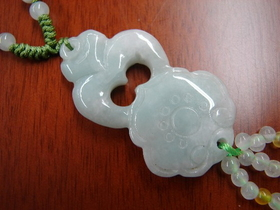 Feng Shui Import Jade Ru Yi Necklace - 1083