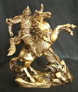 Feng Shui Import Kwan Kong on Horse Statue - 1249