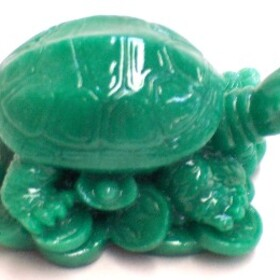 Feng Shui Import Green Turtles - 1374