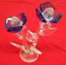 Feng Shui Import Double Blue Crystal Flowers - 158