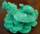 Feng Shui Import Green Dragon Turtles - 1654