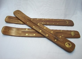 Feng Shui Import 2 of Wood Stick Incense Burners - 1771