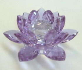 Feng Shui Import Purple Crystal Lotus - 1799